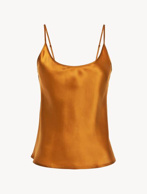 Topaz yellow silk camisole