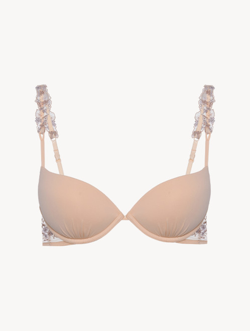 Push-up Bra in beige recycled Lycra