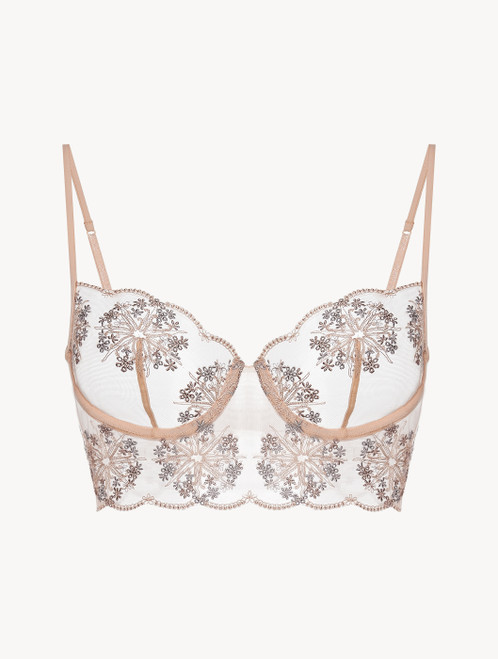 Balconette Bra in beige recycled Lycra