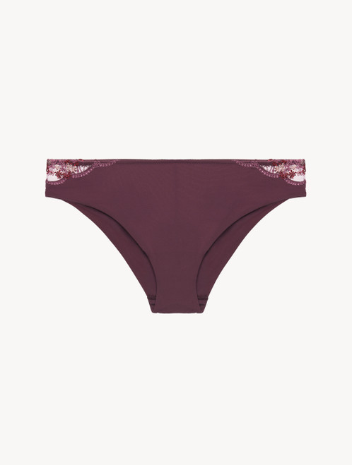 Medium Briefs in burgundy recycled Lycra