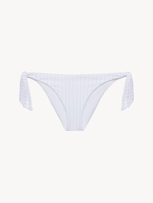 Ribbon-tie Bikini Brief in white