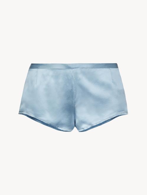 Periwinkle silk sleep shorts