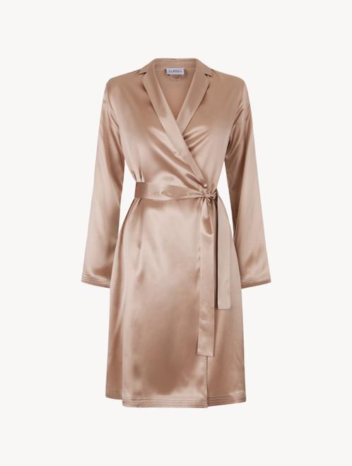 Dusty pink silk short robe