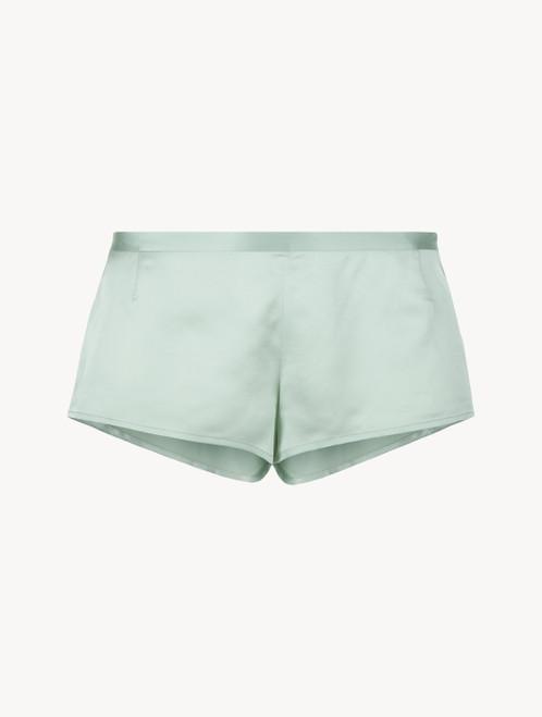 Mint green silk sleep shorts