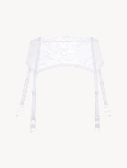 White lace suspender belt