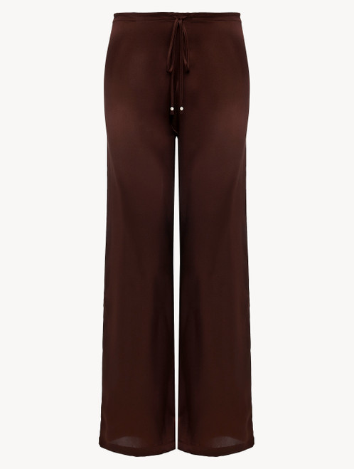 Brown silk trousers