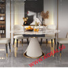 Function dining table with bright rock plate