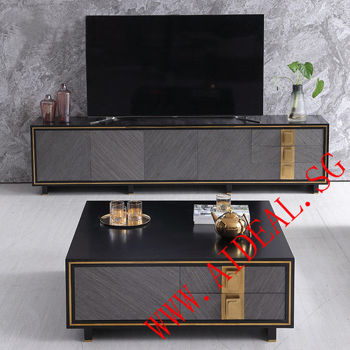 Luxury TV console Coffee table Side cabinet