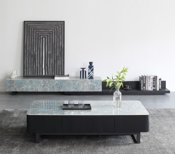Glossy Sintered Stone Tv console/Coffee table