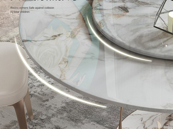 Round Glossy Sintered Stone Dining Table
