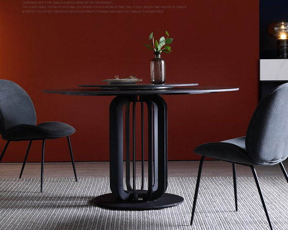 Matte Black Sintered Stone Dining Table