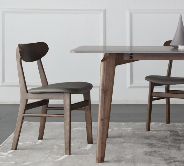 Matte Grey Sintered Stone Dining Table