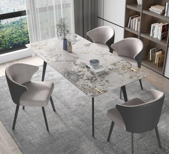 Sleek Sintered Stone Dining Table