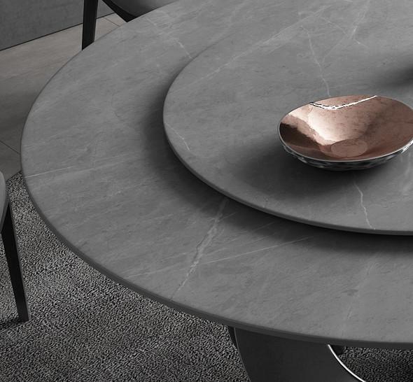 Swivel Design Sintered Stone Dining Table