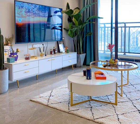 Modern Sintered Stone TV Console/Coffee Table