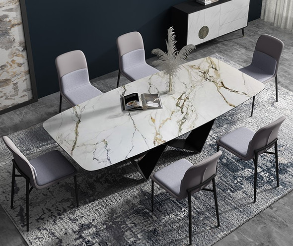 Calacatta Luxe Sintered Stone Dining Table