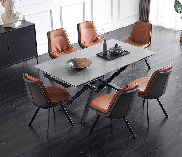 Sintered Stone Extendable Side Dining Table