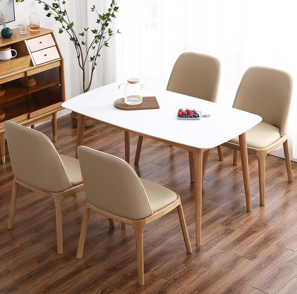 Sintered Stone Solid Wood Frame Dining Table