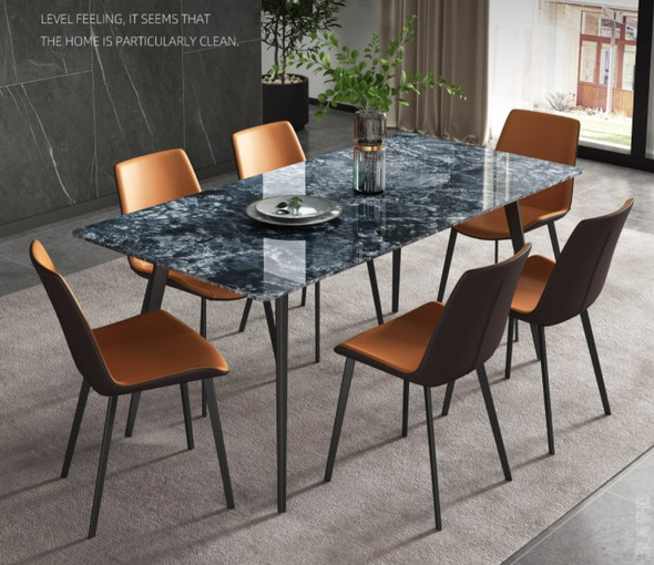 Star Grey Glossy Sintered Stone Dining Table