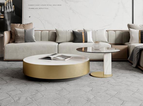 Modern Sintered Stone Coffee Table/TV Console