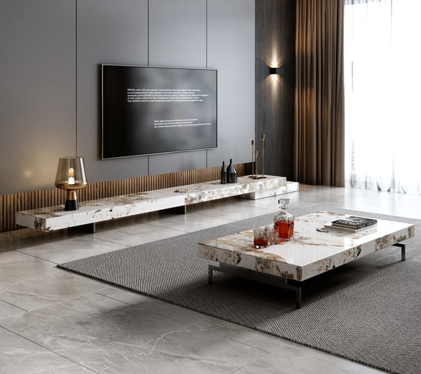 Sintered Stone TV console / Coffee Table Living Room