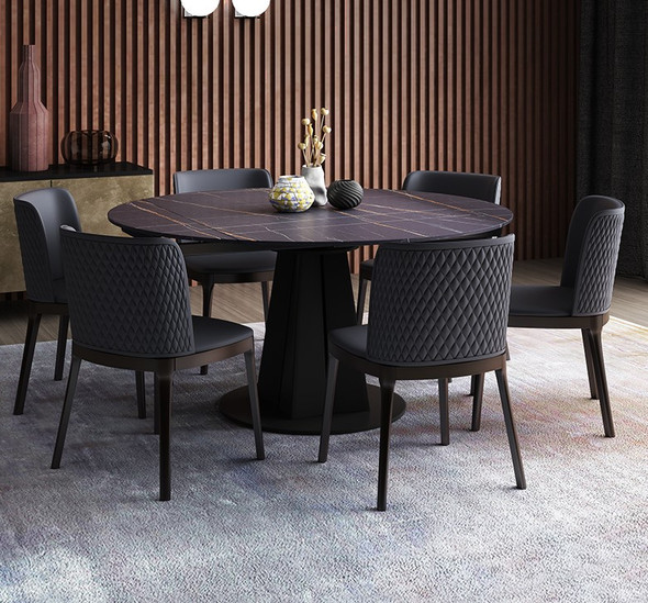 Extendable Round Sintered Stone Dining Table