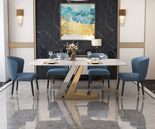 Dual Frame Sintered Stone Dining Table