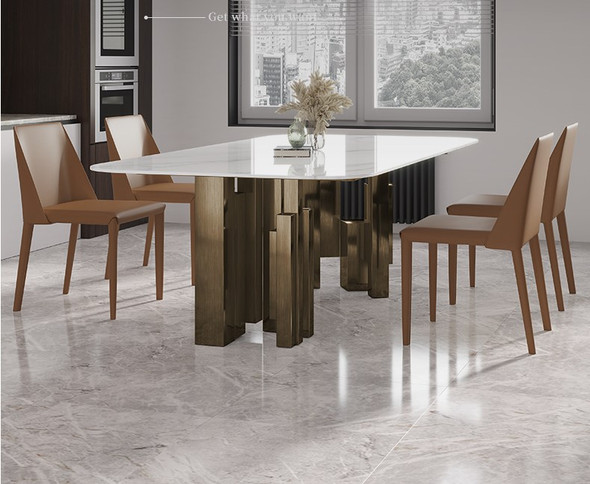 Contemporary Design Sintered Stone Dining Table