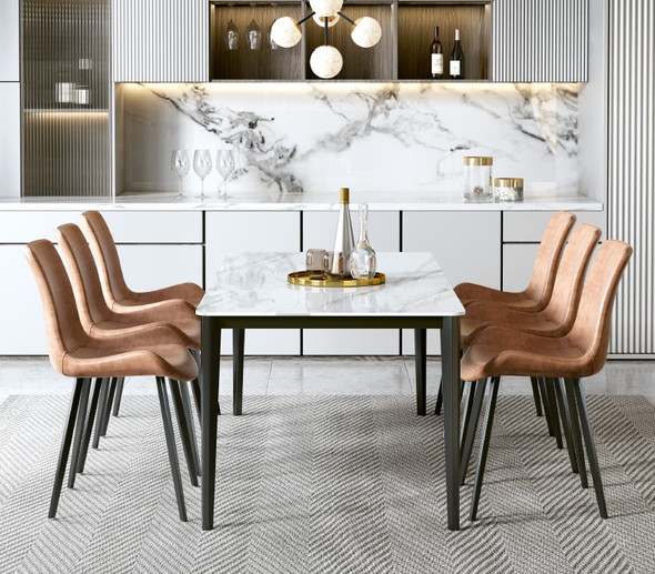 Classic Simple Sintered Stone Dining Table