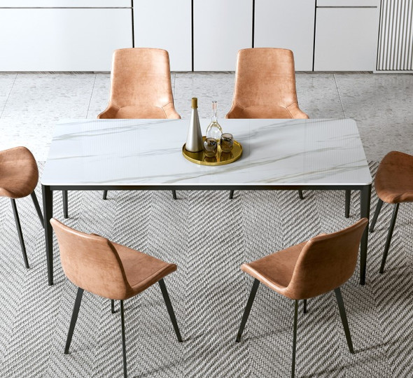 Minimalist Leather Dining Chair / Lounge Chair