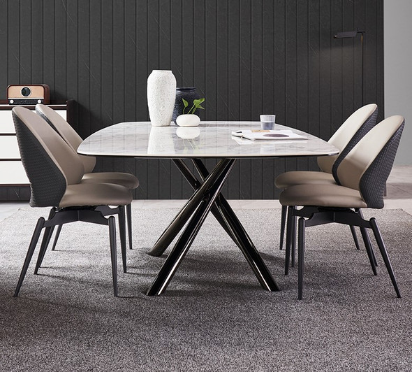 Snow White Design Sintered Stone Dining Table