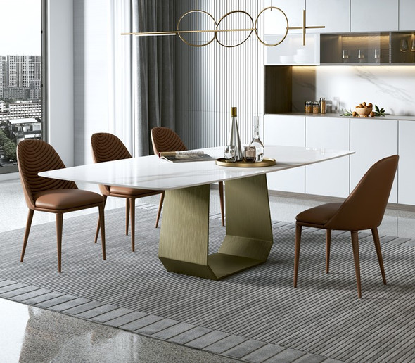 Glossy White Sintered Top Dining Table