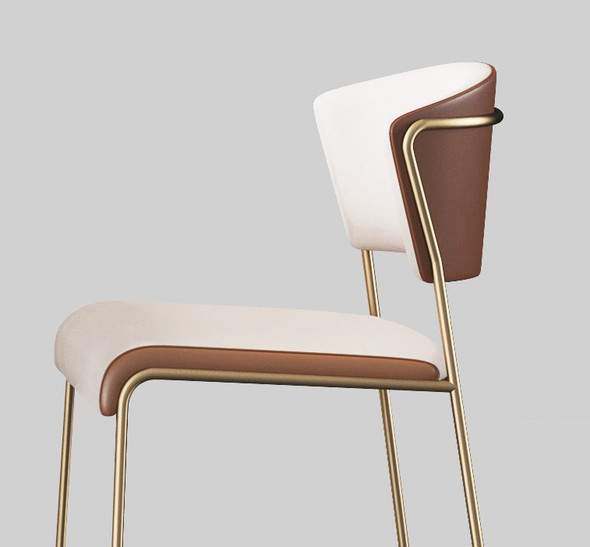 Minimalist PU Leather Dining Chair