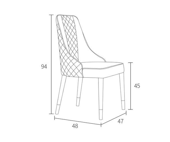 Quilted Design Leather Chair