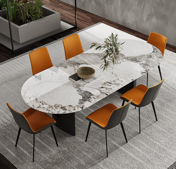 Glossy Sintered Stone Pandora Dining Table