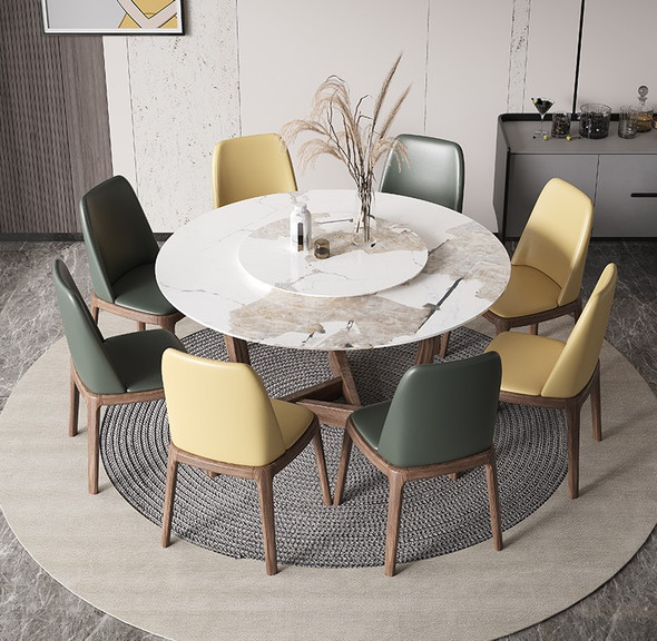 Modern Wooden Base Sintered Stone Dining Table