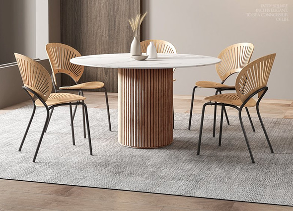 Scallop Base Sintered Stone Dining Table