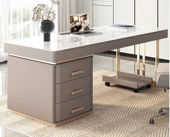 Sintered Stone Study Table with Drawer