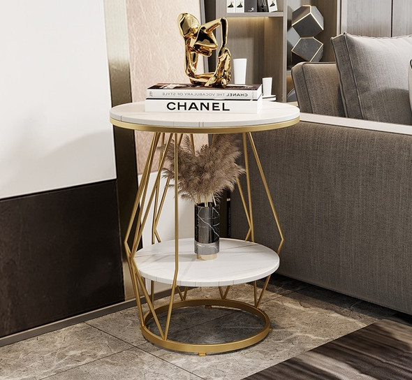 Double Layer Sintered Stone Side Table