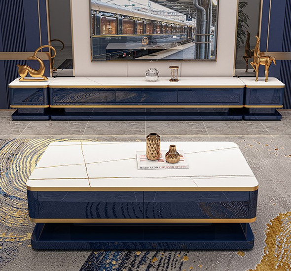 Luxurious Design Sintered Stone TV Console / Coffee Table