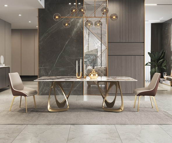 Bianca Sintered Stone Dining Table