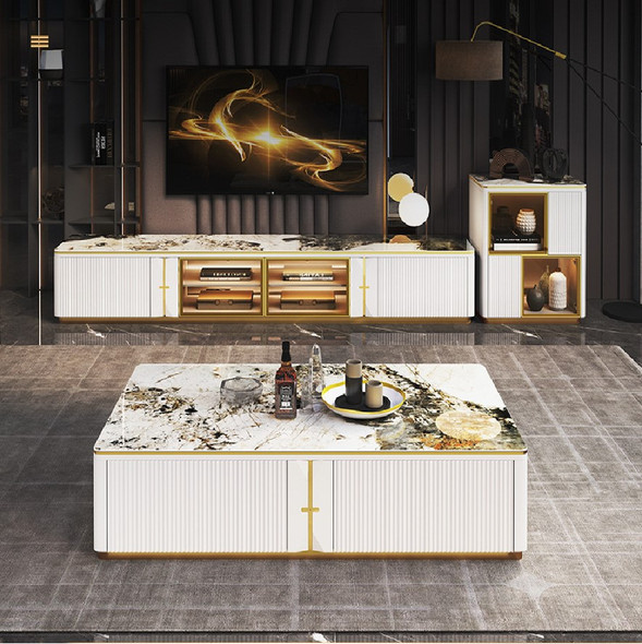 Luxurious Sintered Stone TV Console / Coffee Table