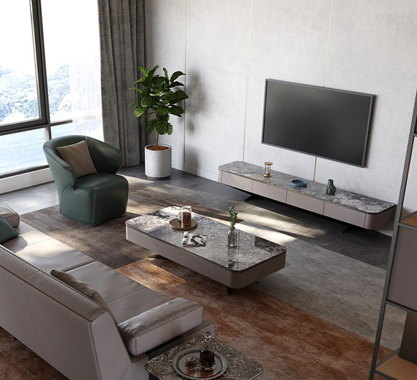 Floating Sintered Stone TV Console