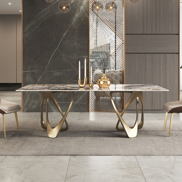 Lavish Design Sintered Stone Dining Table
