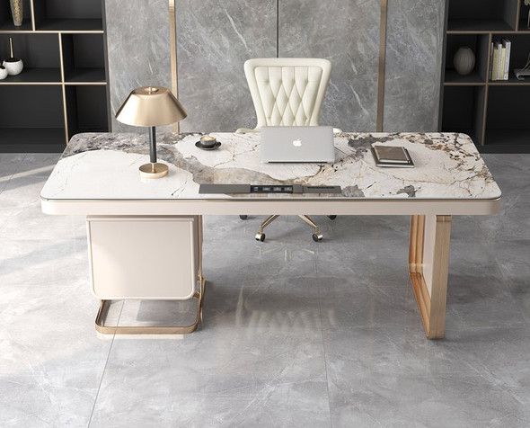 Contemporary Design Sintered Stone Study Table
