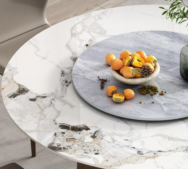Glossy Marble Design Sintered Stone Dining Table