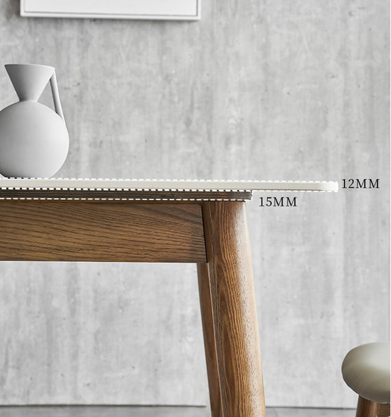 Classic Snow White Sintered Stone Dining Table