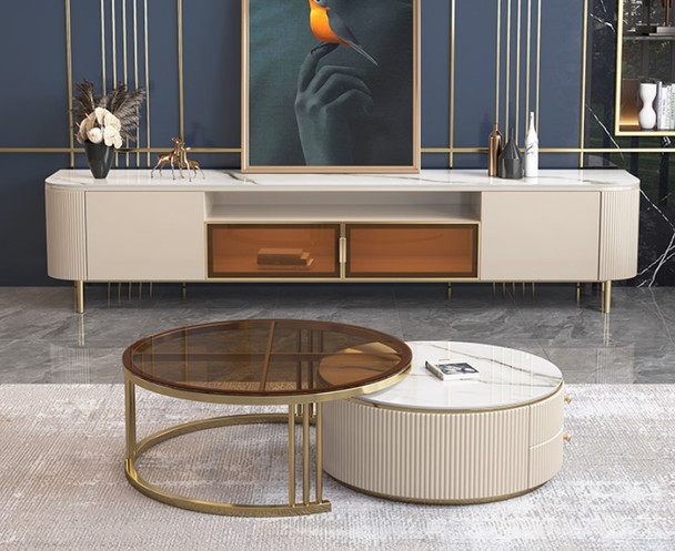 Classic Sintered Stone TV Console / Coffee Table