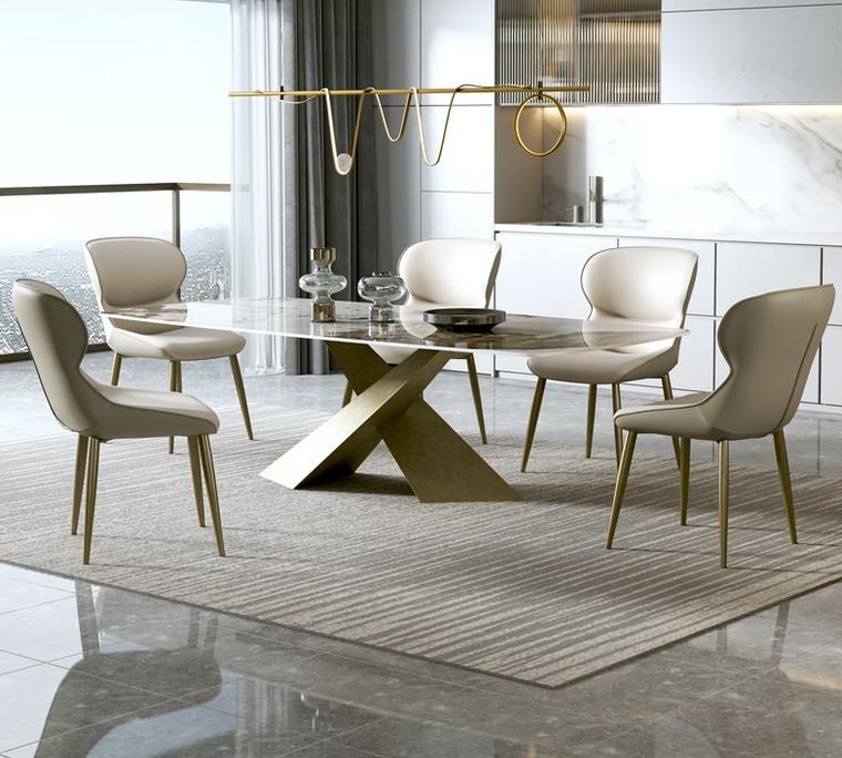 Glossy Pandora Sintered Stone Dining Table