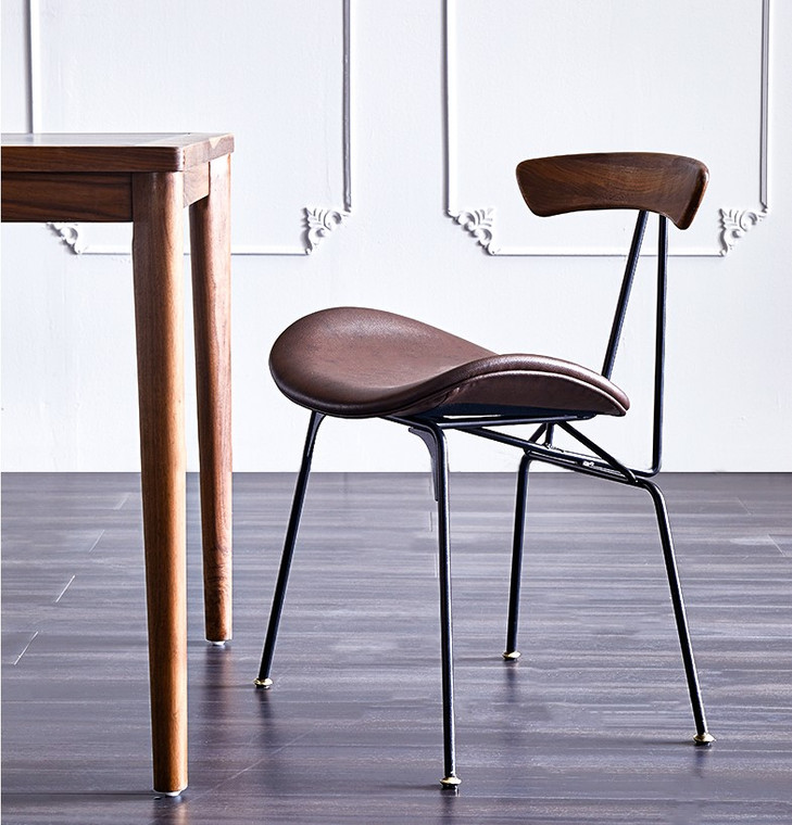Industrial Design Dinning Chair with Cushion Seat